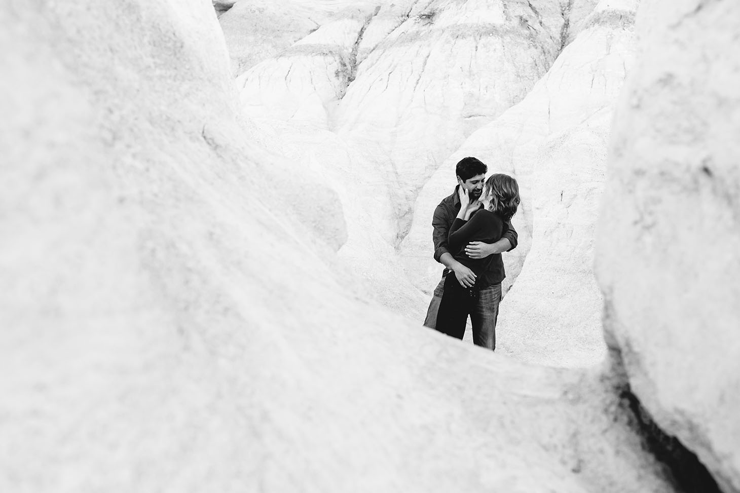 Intimate Paint Mines Engagement Photography Denver